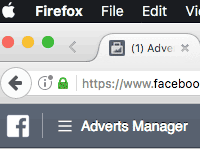 Facebook Adverts Manager
